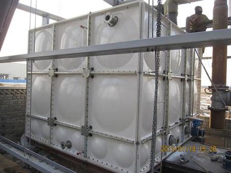 玻璃钢消防水箱安装效果图